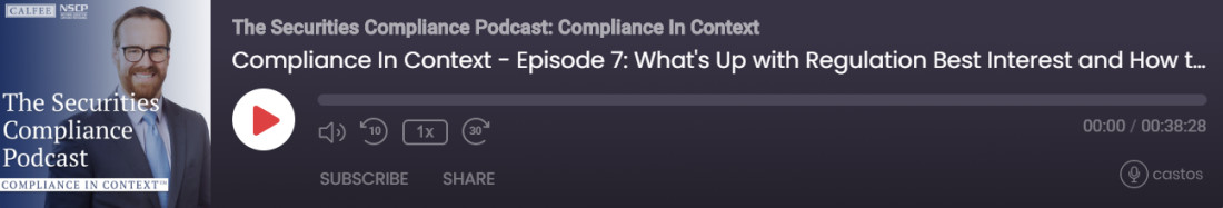Securities Compliance Podcast Episode 7